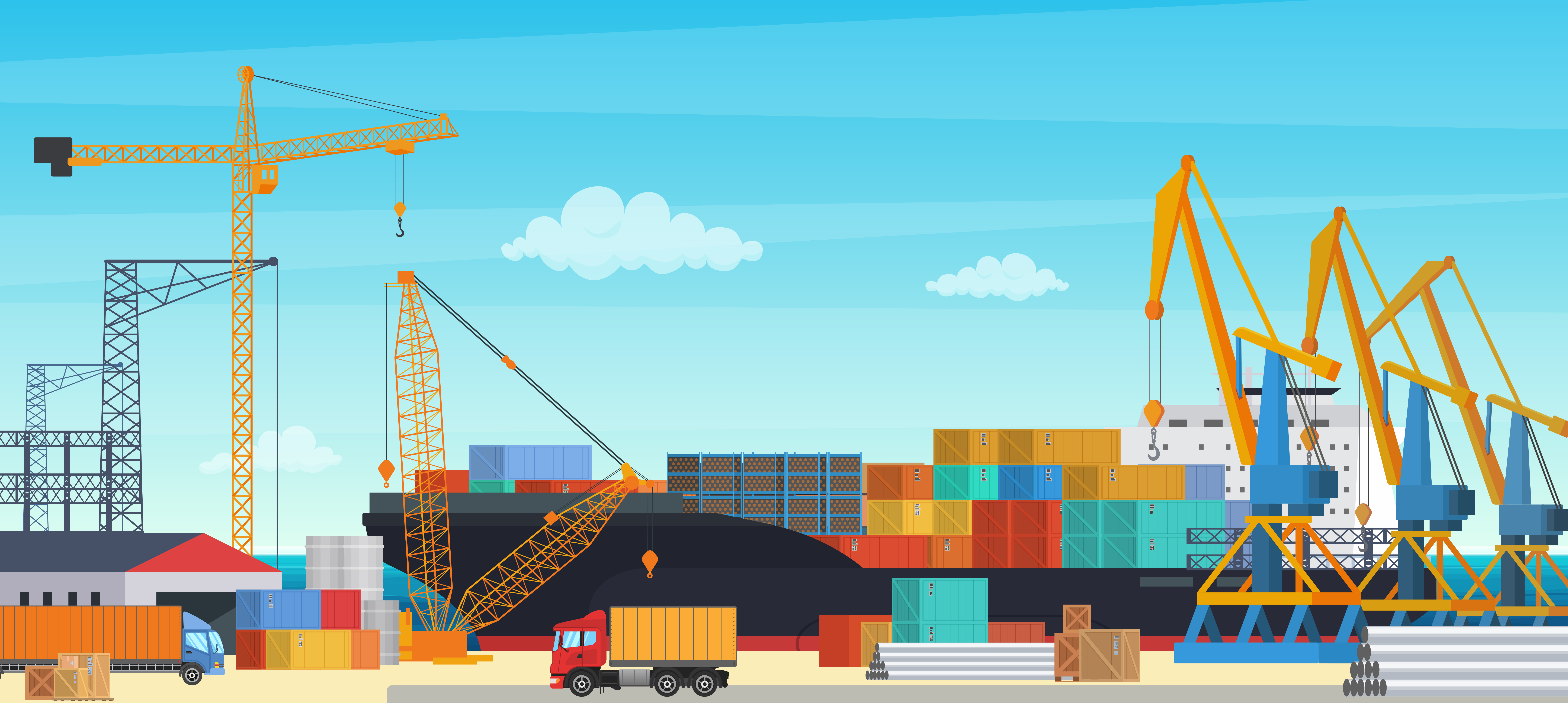 logistics transportationt container ship industrial crane import export shipping cargo harbor yard